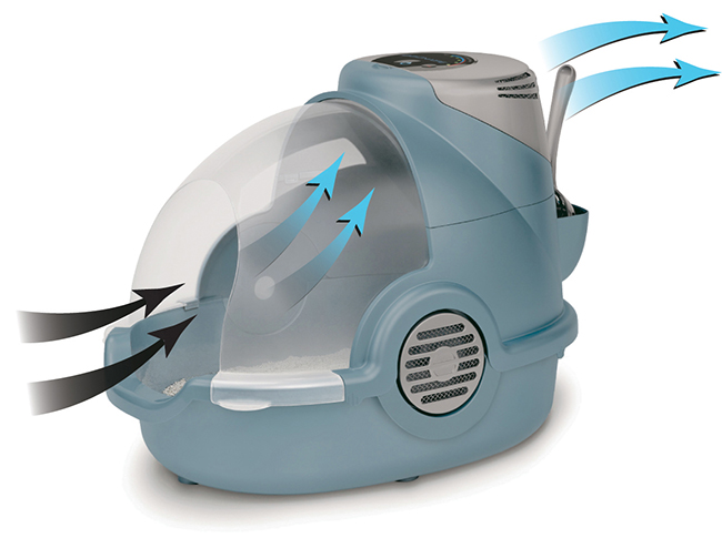 Биотуалет с функцией фильтрации воздуха и электронным индикатором Oster