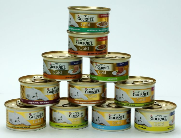 Линейка кормов Gourmet для кошек