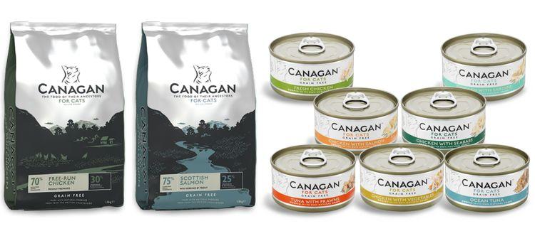 Виды корма для кошек Canagan