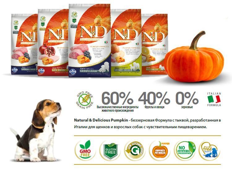 Корм для собак Фармина Natural&Delicious