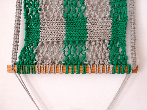 Плетение полотна гамака
