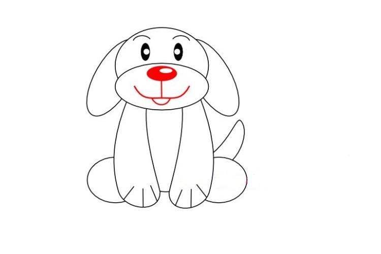Готовый рисунок собаки