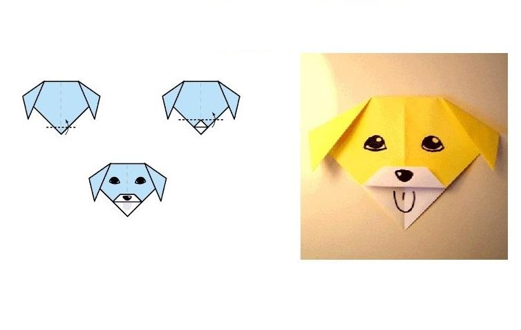 Схема собаки из бумаги