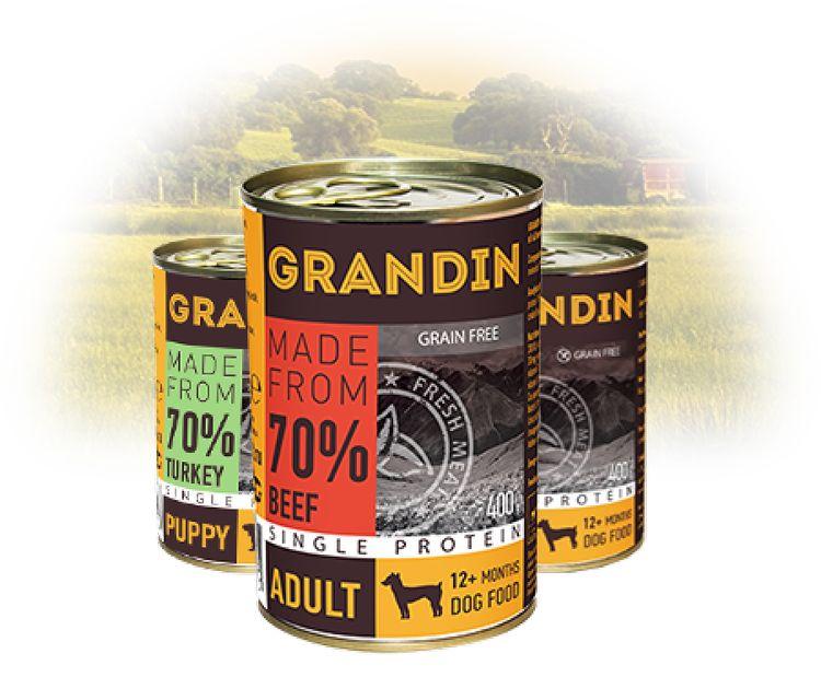 Консервы для собак Grandin