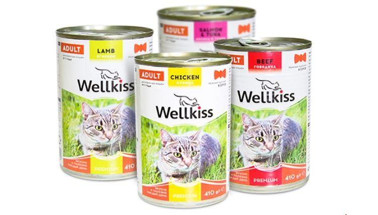 Консервированный корм для кошек Wellkiss