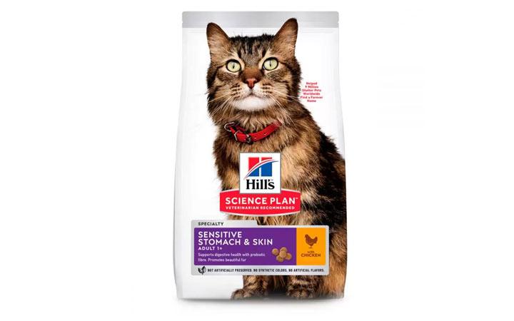 Корм Hill's Science Plan Sensitive Stomach & Skin для кошек с чувствительным пищеварением