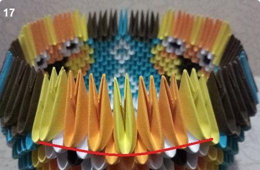 МК модульное оригами собака-конфетница