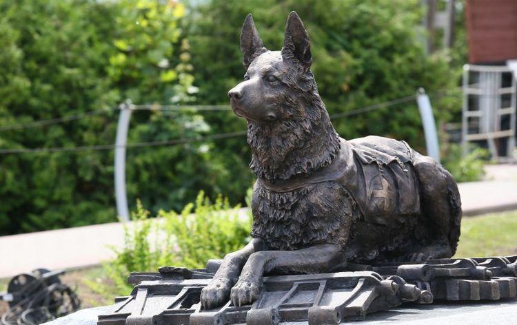 амятник фронтовой собаке (г. Москва)