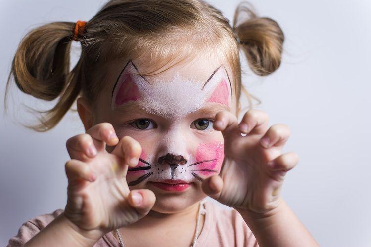 Аквагрим кошка для ребенка