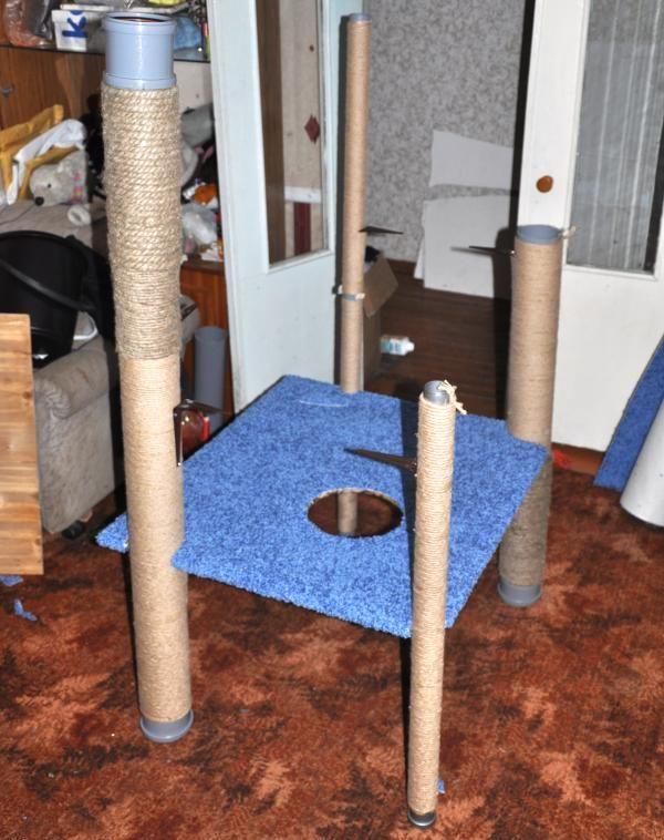 Пошаговый МК игрового комплекса для котов