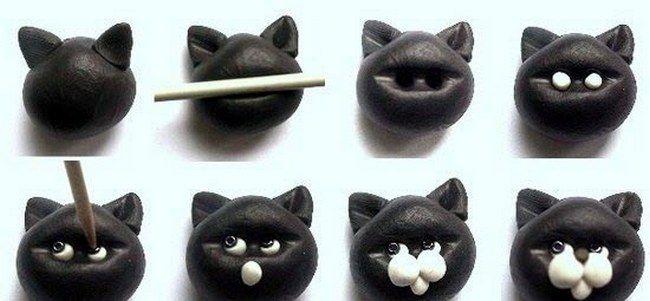 МК как слепить кота из пластилина