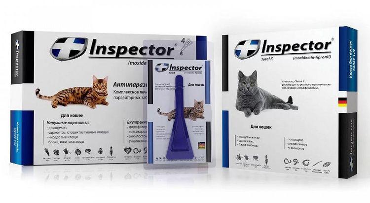 Капли Инспектор для кошек – инструкция по применению, отзывы, цены