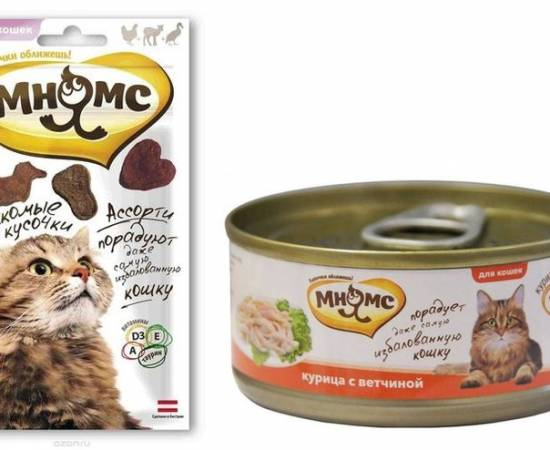 Паучи и консервы для кошек Мнямс