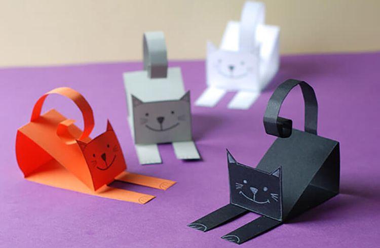 МК кошка из бумаги