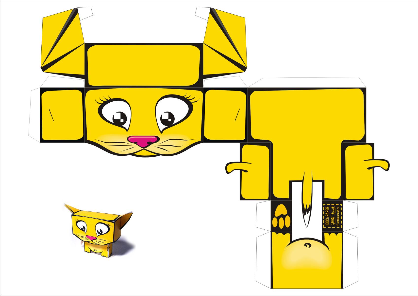 Как из бумаги сделать игрушку для котенка своими руками из бумаги