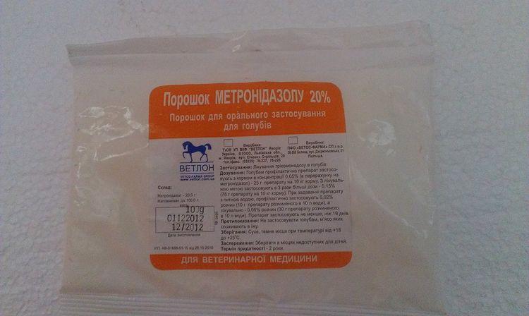 Метронидазол для животных