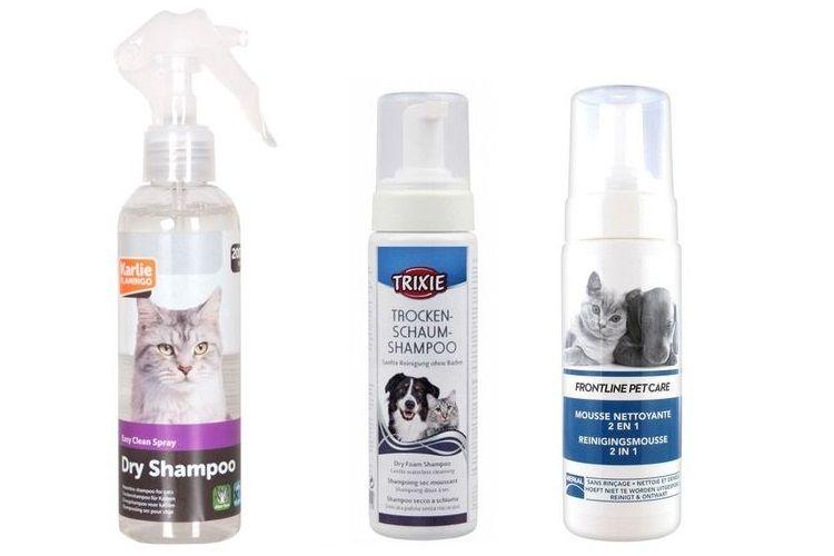 Сухой шампунь для кошек