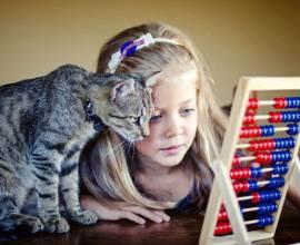 Кошка и девочка