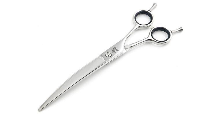 Ножницы для стрижки собак с загнутым лезвием