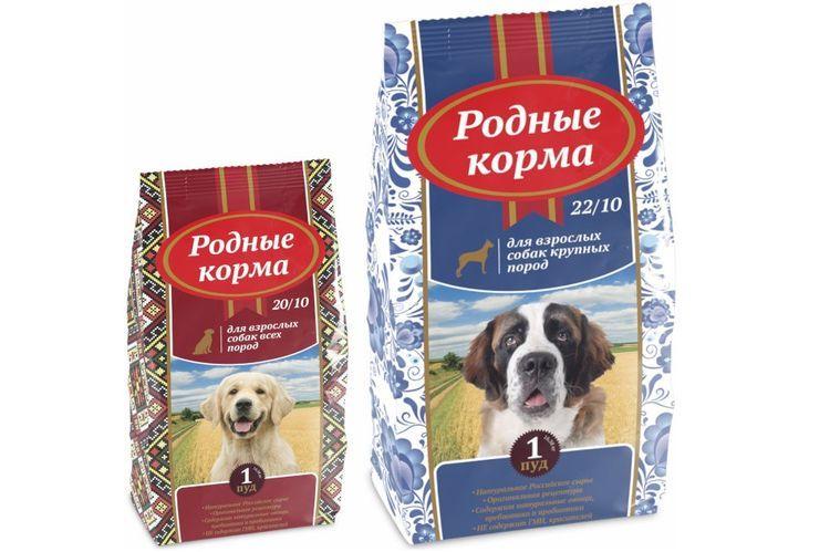 Родные корма для собак