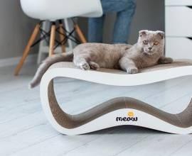 Картонная когтеточка для кошек