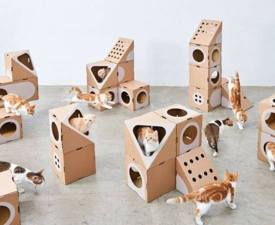Картонные домики для кошек