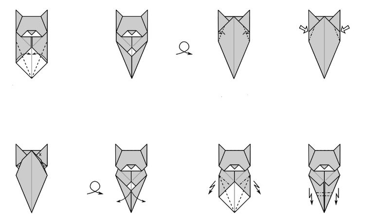 оригами кошки из бумаг в картинках уже девятнадцатом веке
