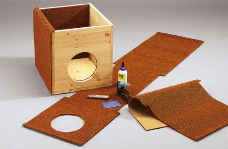 Изготовление домика для кошки из фанеры