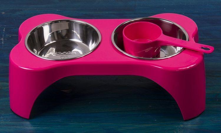 Двойная миска для кошки на подставке