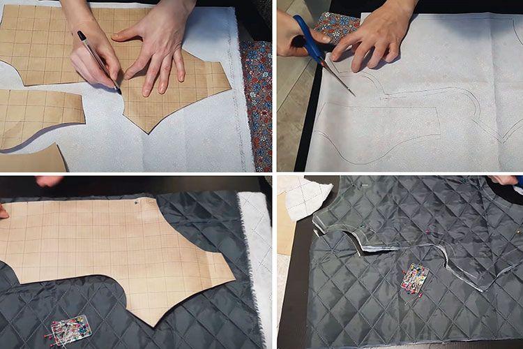 Вырезание деталей по выкройке
