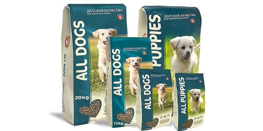 Аll dogs корм для собак