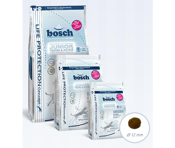Три пачки корма Bosch