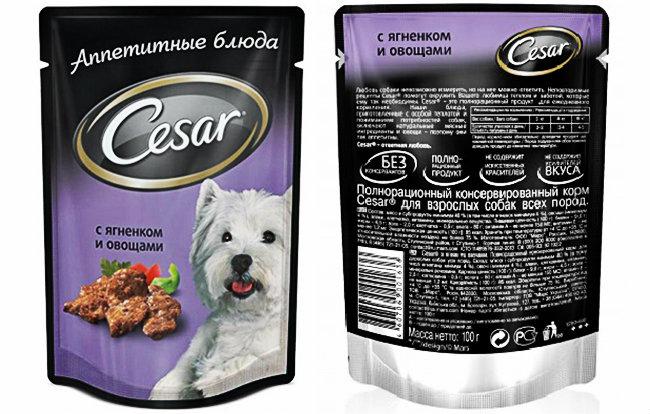 Корм для собак Цезарь с ягненком