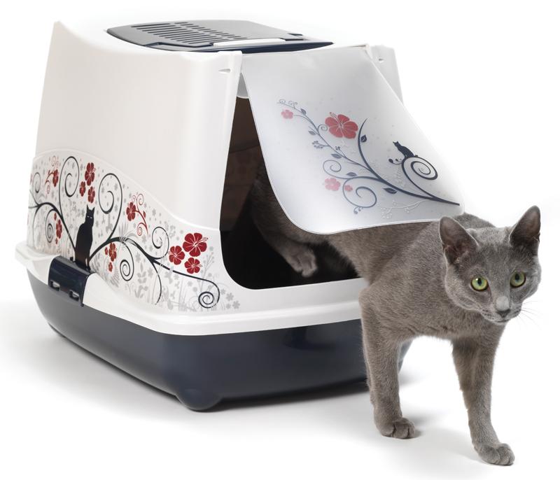 Закрытый туалет для кошек