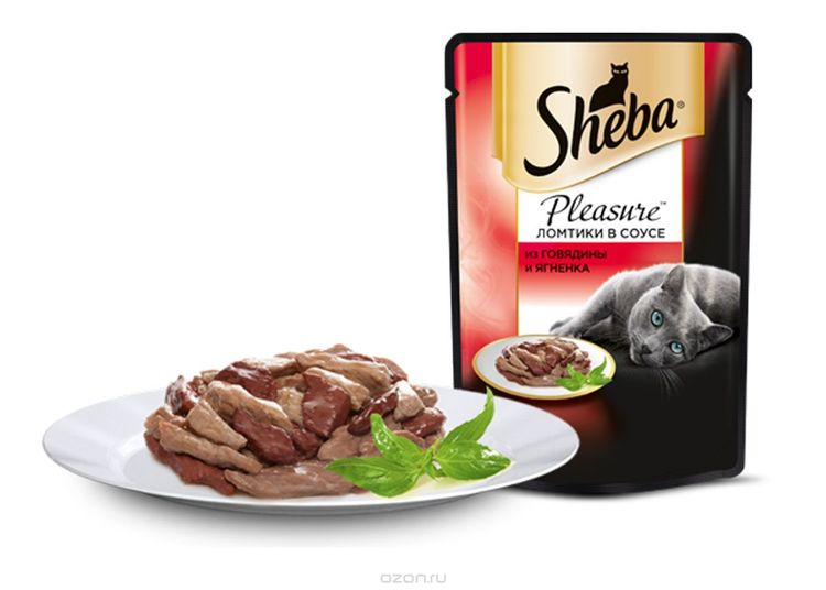 Корм Шеба в тарелке
