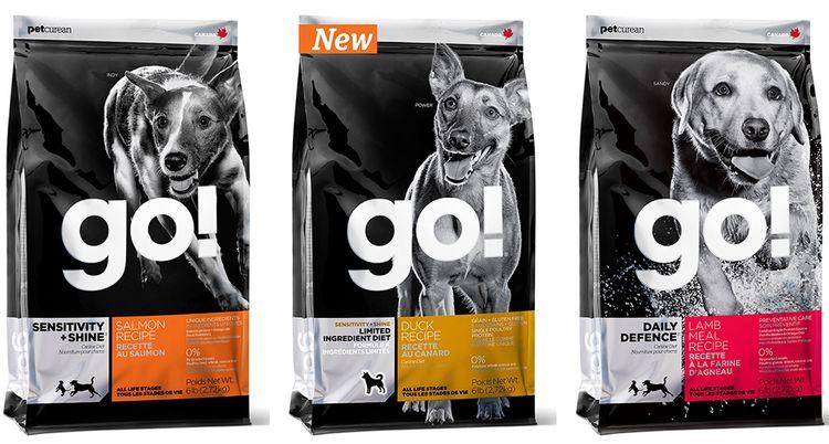 Упаковки корма Go! для собак