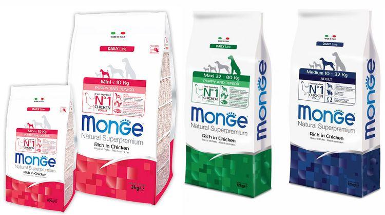 Корма Monge Daily Line