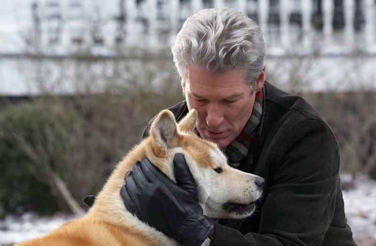 Ричард Гир с собакой