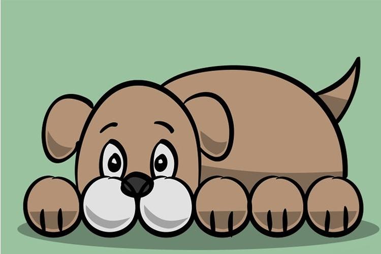 Простой рисунок собаки