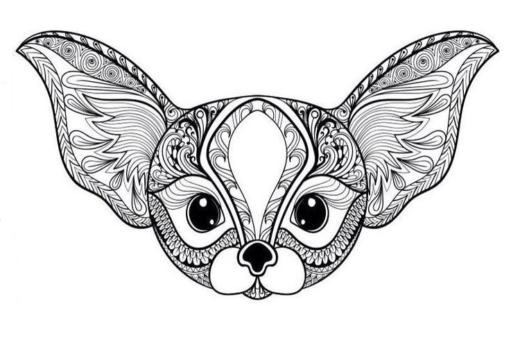 Антистресс-раскраска собаки