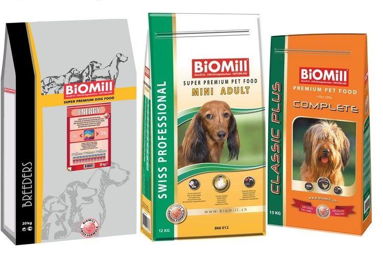 Ассортимент Биомилл для собак