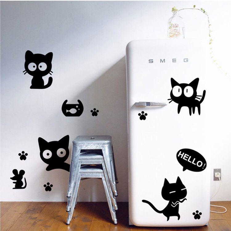 Трафарет котов для декора