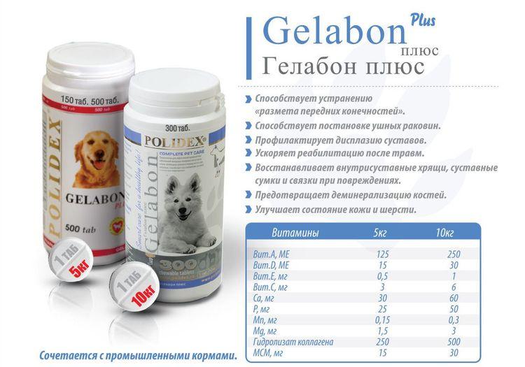 Состав Гелабон плюс для собак