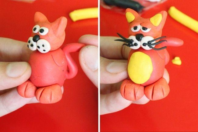 МК кот в сапогах из пластилина