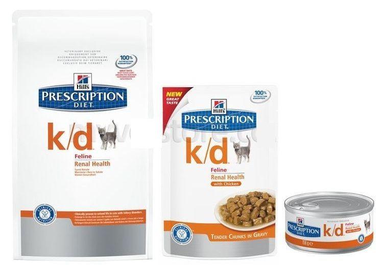 Корм для кошек Hill's Prescription Diet Feline k/d при МКБ