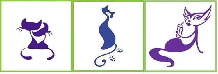 Силуэты кошки для глиттер-тату