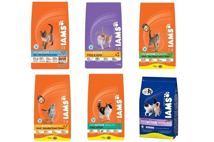 Ассортимент корма для кошек Ямс