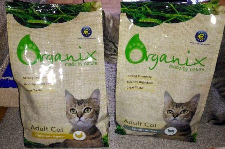 Корм для кошек Органикс