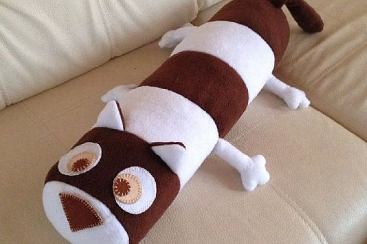 Диванная подушка-кошка