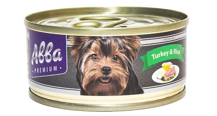 Консервы для собак АВВА